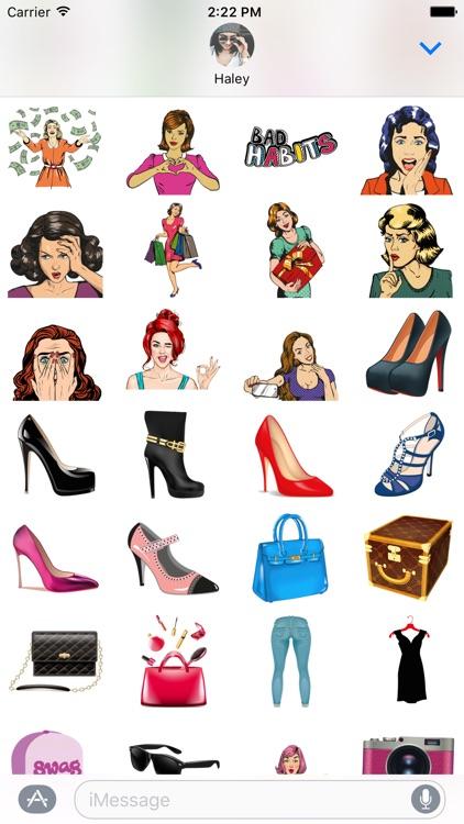 Girls Essentials Stickers