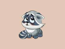 Express yourself in richer ways by using this adorable Raccoon Sticker Pack