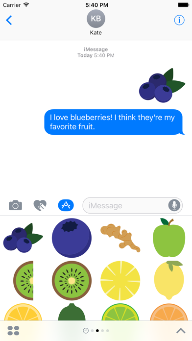 Fruits Sticker Pack for iMessage screenshot two