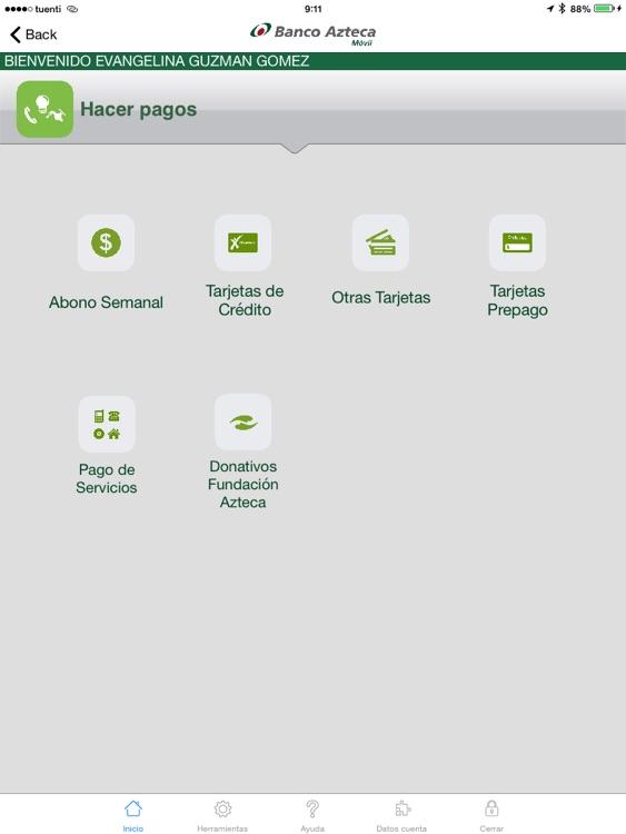 Banco Azteca Móvil Tablet screenshot-3