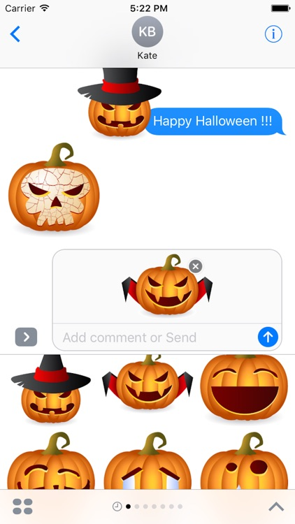Pumpkin Halloween Sticker - Emoji screenshot-3