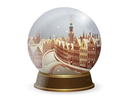 Add an animated snow globe to your conversations this holiday season