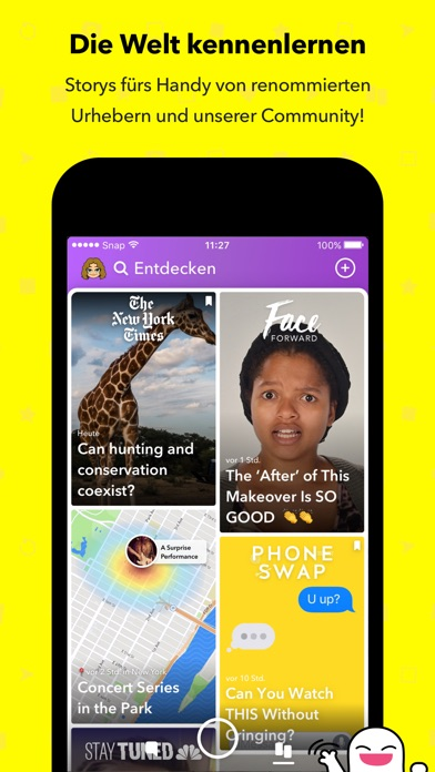 Screenshot for Snapchat in Switzerland App Store