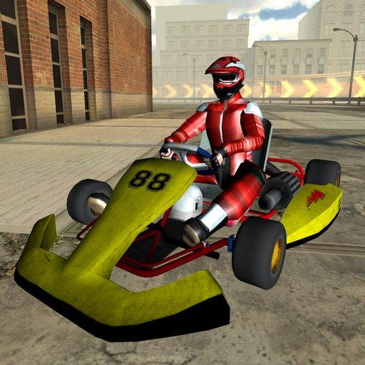 3D Go-kart City Racing - Outdoor Traffic Speed Karting Simulator Game PRO