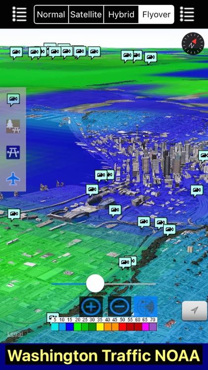Washington NOAA Radar with Traffic Cameras 3D Pro screenshot-4