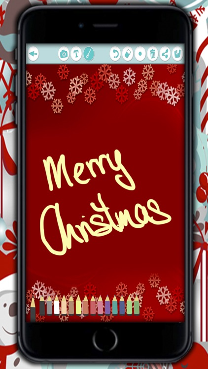 Create Christmas Cards - Customized Christmas greeting cards to write and wish a happy New Year