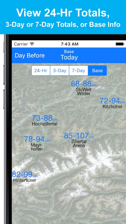 Alps Snow Map - Snow Reports screenshot-3