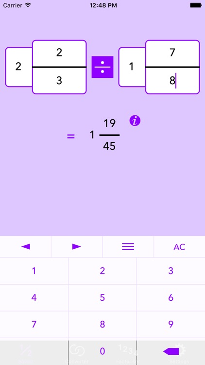 Fraction Help — Calculator + Working