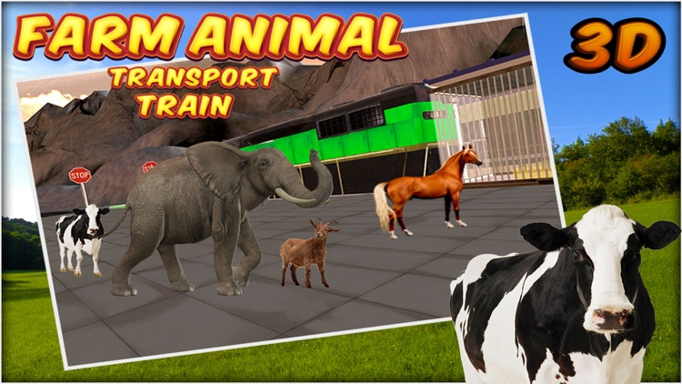 Farm Animal Transport Train 3d screenshot-3