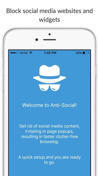Anti-Social - Block social media content from websites