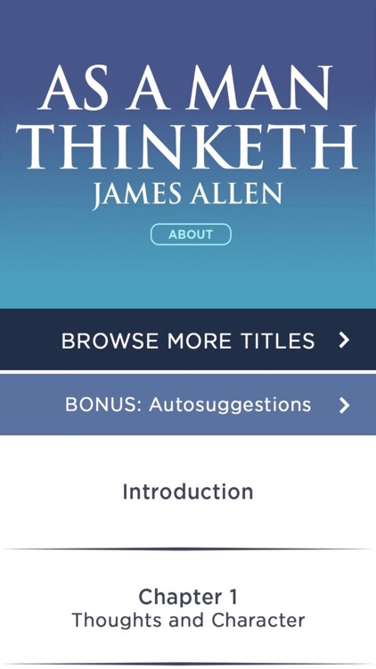 As A Man Thinketh Meditations By James Allen