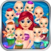Mommy's Octuplets Newborn Babies - My Mermaid Baby Salon Doctor Game!