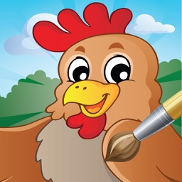 My Farm Animal Pet Cartoon Coloring Book 2 Easy Paint for Kid Free