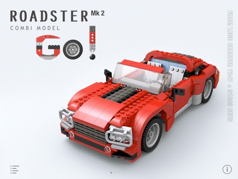 Roadster Mk 2 For Lego Creator 734731003 Sets Building