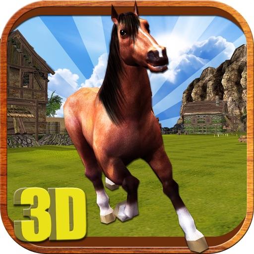 Верховая Simulator - диких животных езда Моделирование игры, чтобы насладиться в Real 3D фермерских полей