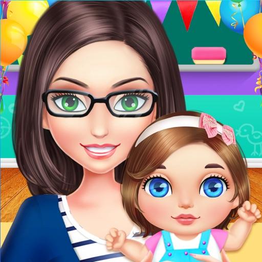 Teacher & Newborn Baby Story - School Babysitting Fun