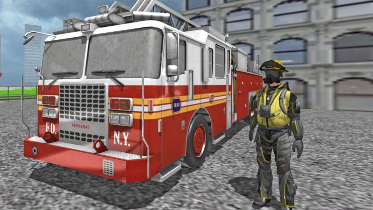 Fire Fighter Emergency Truck Simulator 3D screenshot-3