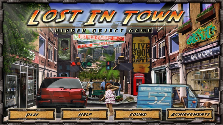 Lost in Town Hidden Object