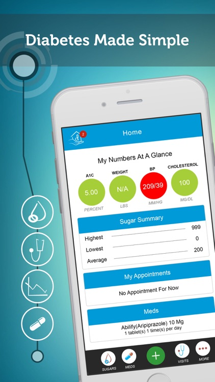 My Diabetes Home - Track Your Sugars, Meds & More!