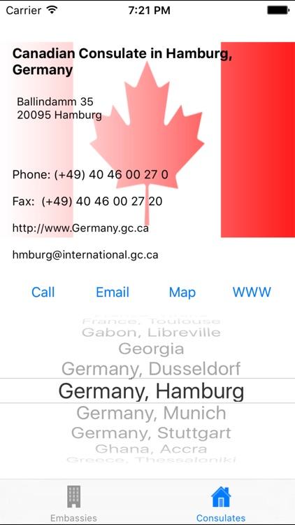 Canadian Embassies & Consulates