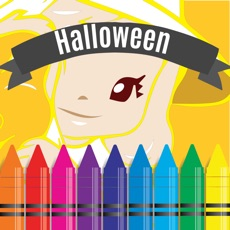 Activities of Halloween Coloring and Alphabet numbers games for kids