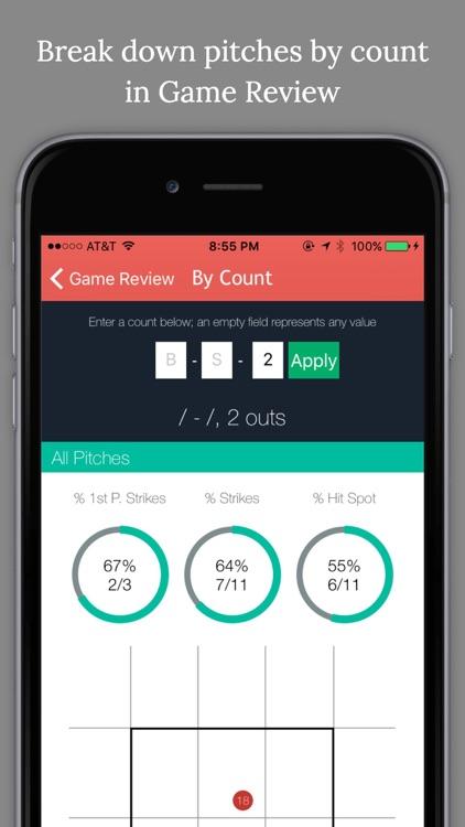 Pitch Cast - Baseball/Softball Pitch Tracker screenshot-3