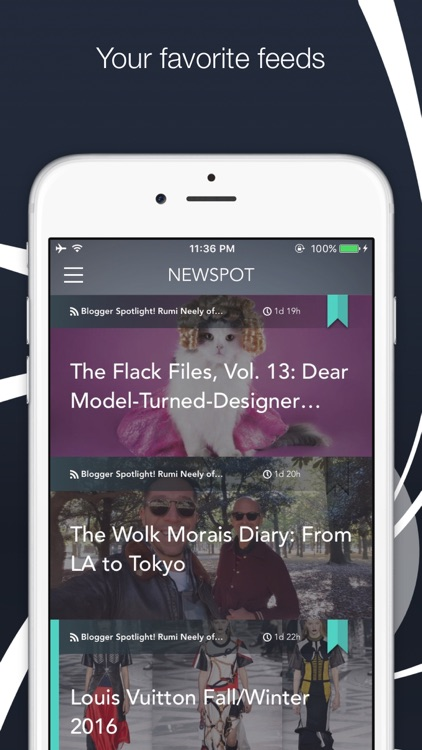 "Newspot - Your Wonderful News & RSS Feed Reader ""for Apple Watch and iPhone"" screenshot-0"