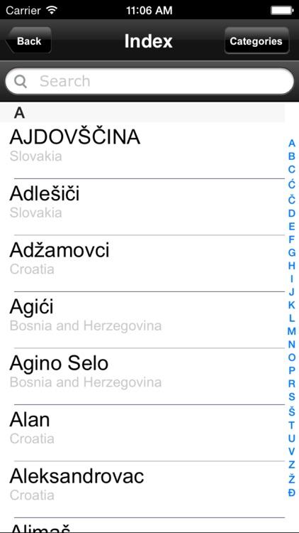 Slovenia, Croatia. Road map. screenshot-4