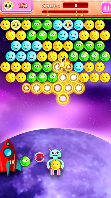 Star Commander Bubble Shooter - Galactic Imperial Force screenshot two
