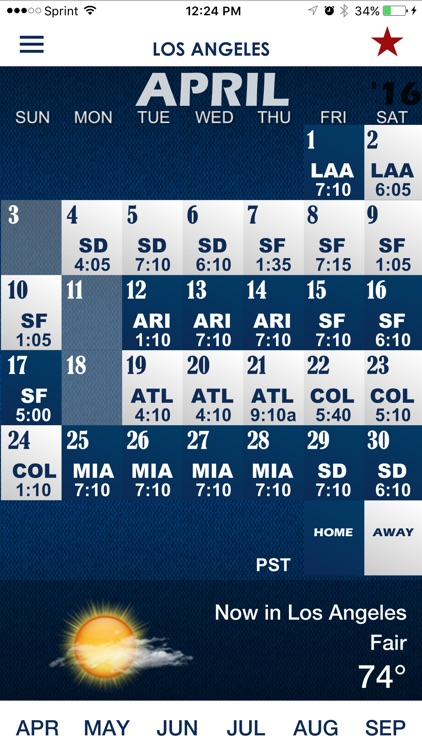 LAD Pocket Schedule