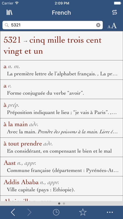 French Dictionary and Thesaurus with Verbs