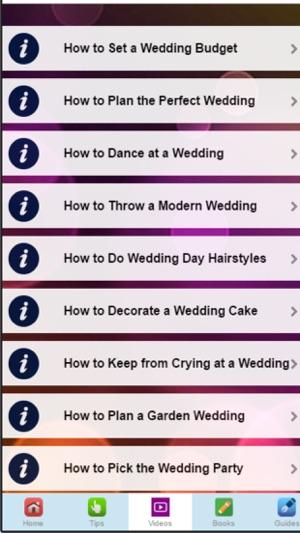 Wedding tips learn to plan your perfect wedding na app store capturas de tela junglespirit Choice Image