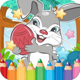 Coloring Book Rabbit Drawing Pages - free learning painting cool games for the kids girls