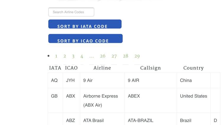 Airport Airline Codes Database screenshot-4