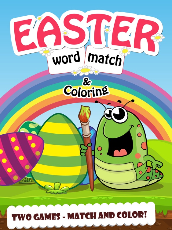Easter Word Match and Coloring screenshot-0