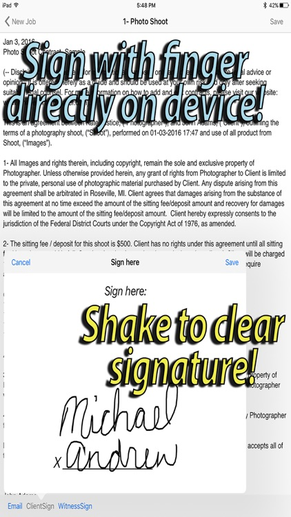 Photographers Contract Maker by MIchael The Maven