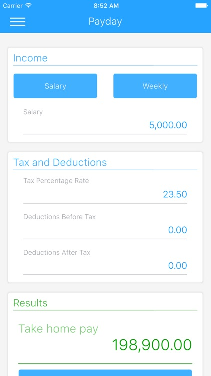 Payday - Simple Tax Calculator