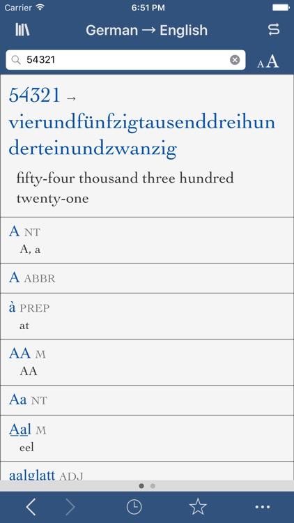 Collins German-English Translation Dictionary and Verbs