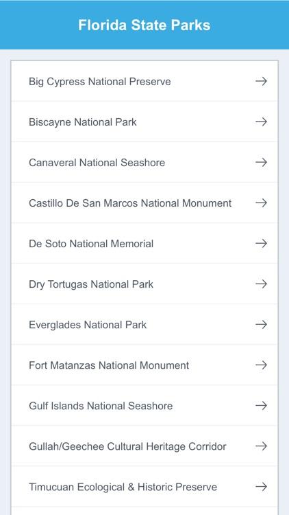 Florida State Parks & National Parks