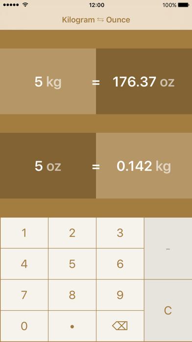 Kilogrammes to Ounces | kg to oz screenshot two