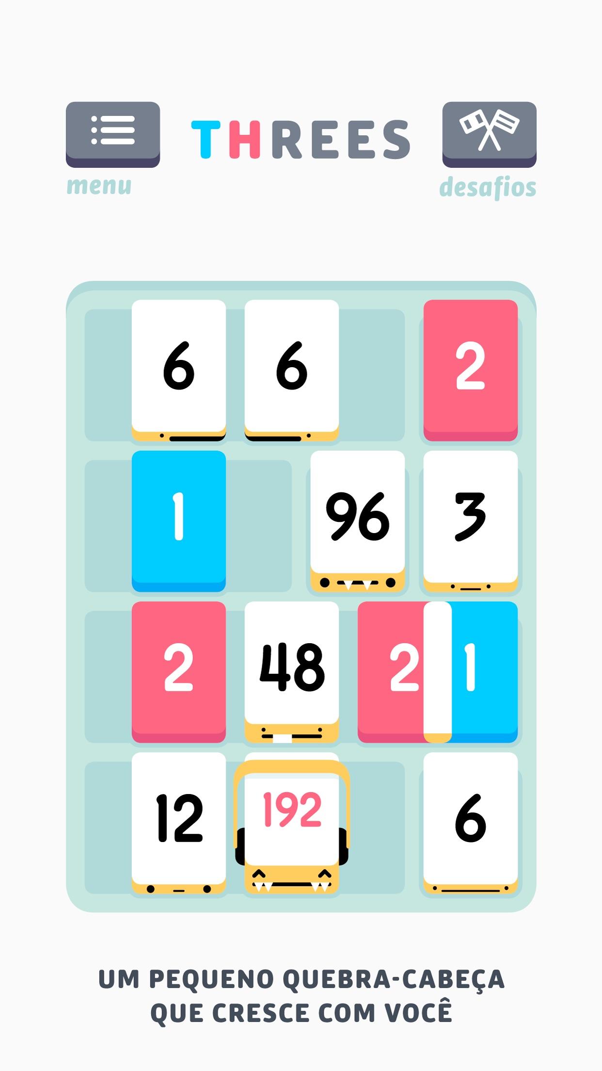 Screenshot do app Threes!