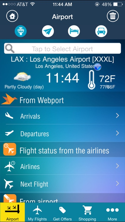 Los Angeles Airport (LAX) Flight Tracker