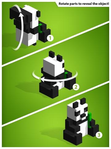 Kubiko - трехмерные головоломки из 3D пикселей! на iPad