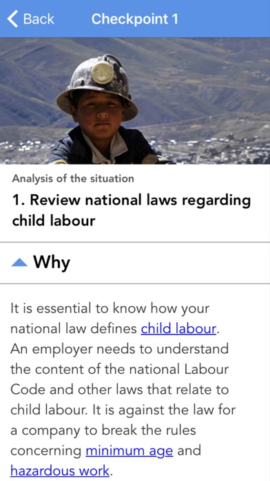 Eliminating and Preventing Child Labour - Checkpoints screenshot three