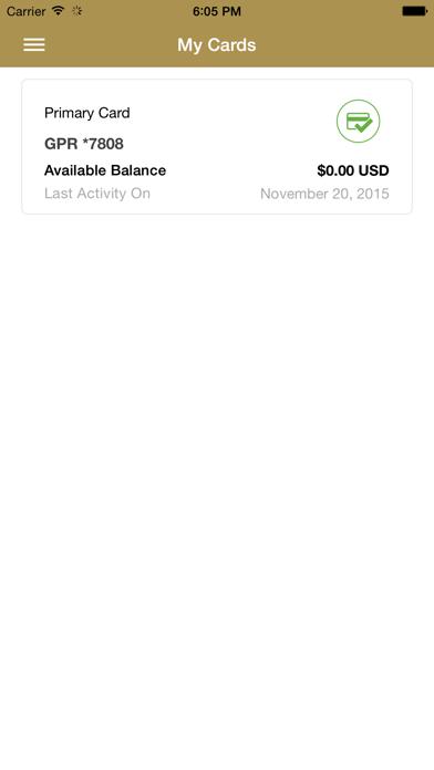 Golden Nugget Prepaid Card App screenshot one