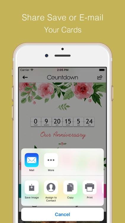 Countdown for Wedding,Vacation,Christmas,Graduation,Baby,Concert,Birthday