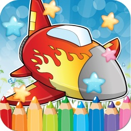 Plane Drawing Coloring Book - Cute Caricature Art Ideas pages for kids