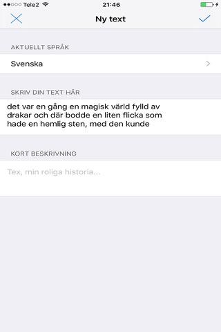 SpeakFlake - på svenska screenshot 4