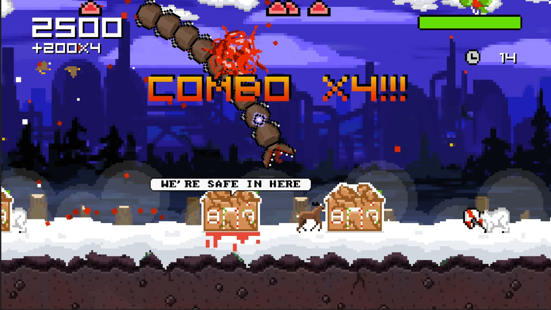 Super Mega Worm Vs Santa Saga screenshot 12