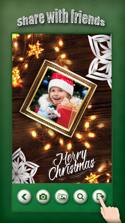 Christmas Photo Collage & Cards Maker - Mail Thank You & Send Wishes with Greeting Quotes Stickers screenshot-4